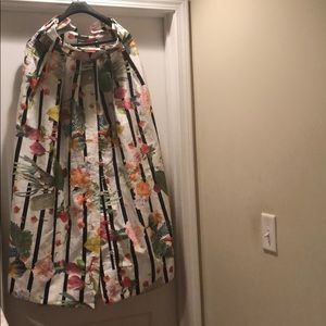 Long Button up multi-colored Gracia Skirt